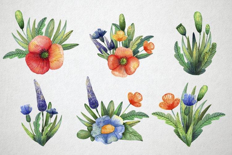 Watercolor wildflowers example 7