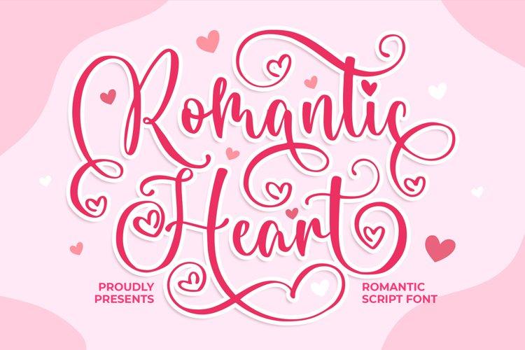 Romantic Heart Script Font example image 1