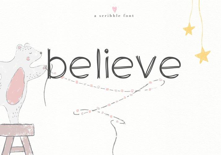 Believe - A Handwritten Scribble Font example image 1