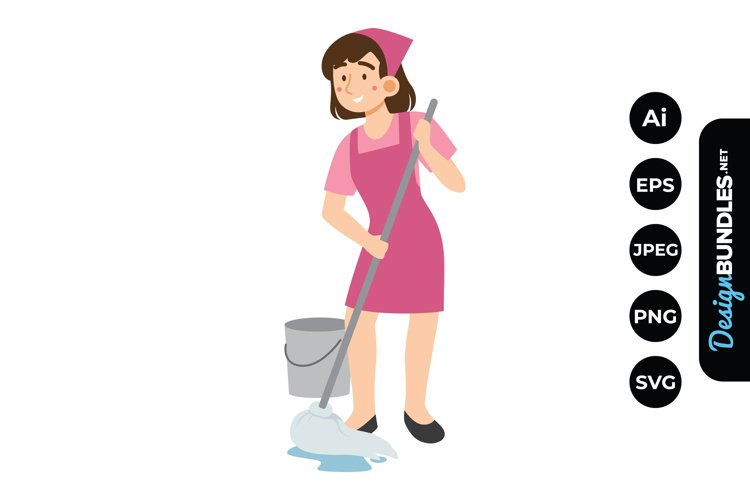 House Cleaning Woman Clipart example image 1