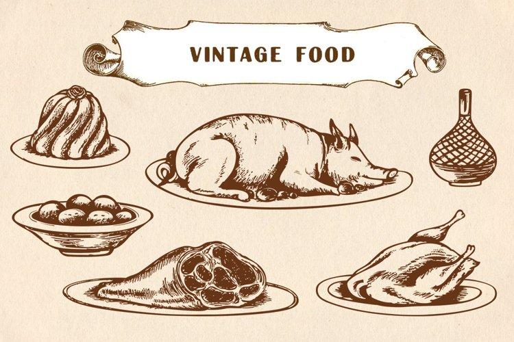 Vintage Hand Drawn Food