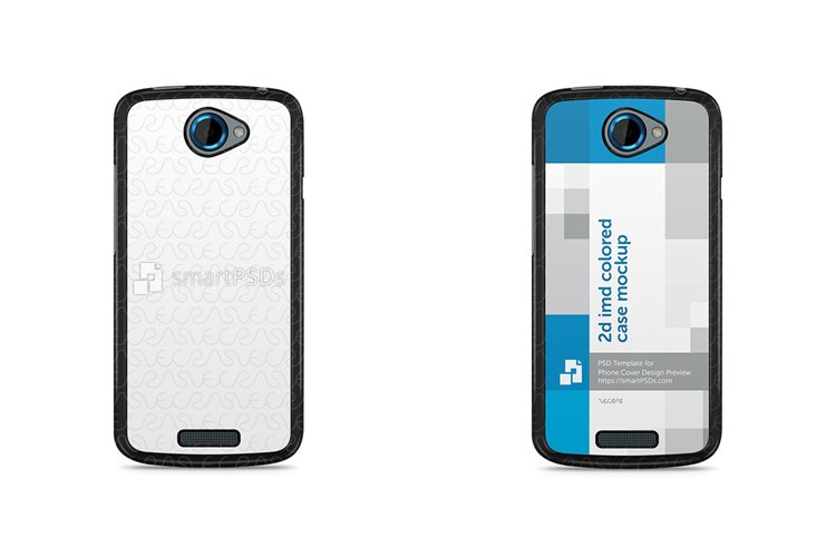 HTC One S 2d IMD Colored Mobile Case Mockup example image 1