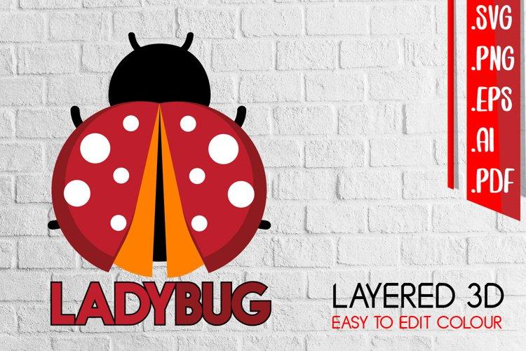 Ladybug Layered 3D svg eps ai png files example image 1