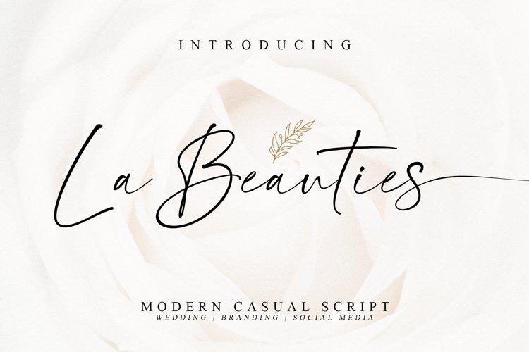 La Beauties-Casual Handwritten Font example image 1