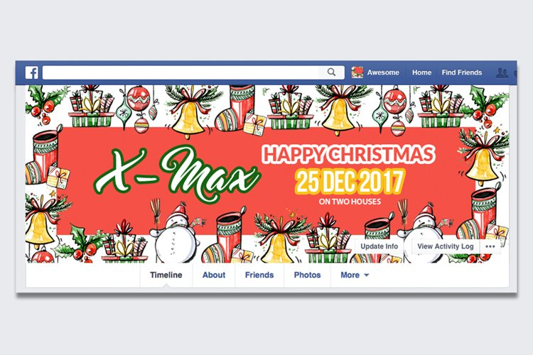 Christmas Facebook Timeline Cover example image 1