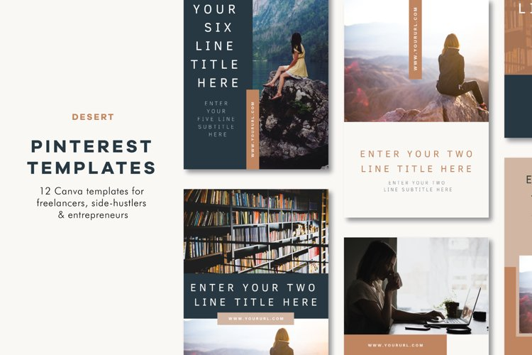 Pinterest Templates | Canva | Desert example image 1