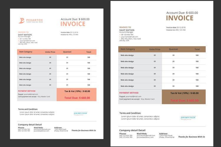 Corporate Invoice example image 1