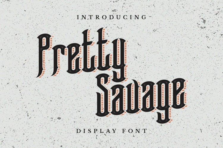 Web Font Pretty Savage Font example image 1
