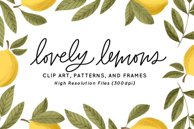 Lovely Lemons Clip Art & Patterns
