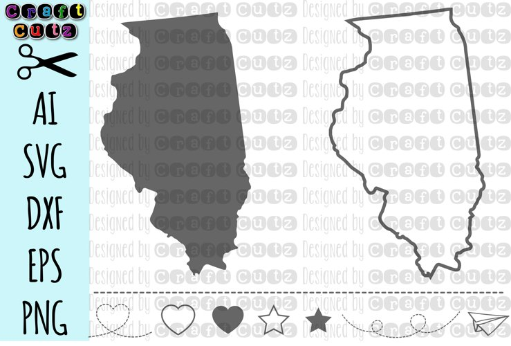 ILLINOIS svg, State svg Files, Illinois Vector, United States svg, State Clip Art, Illinois Cut File, Illinois State Outline example image 1
