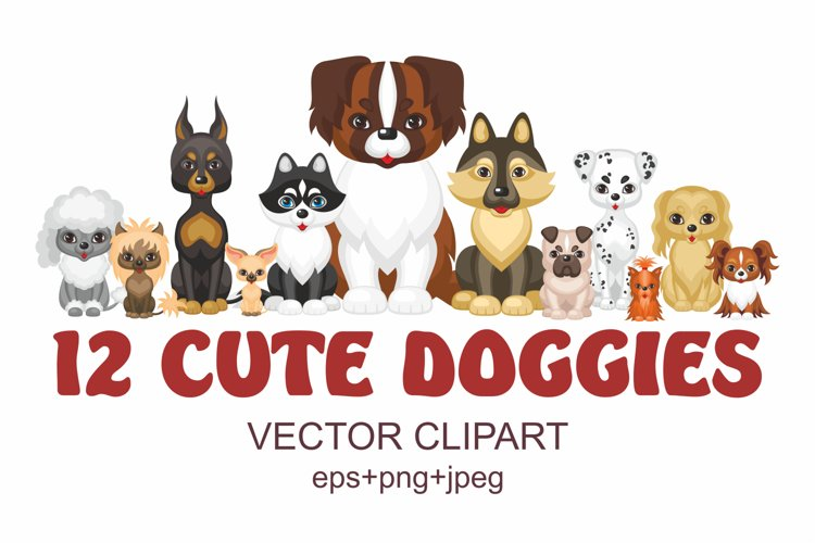 12 cute doggies