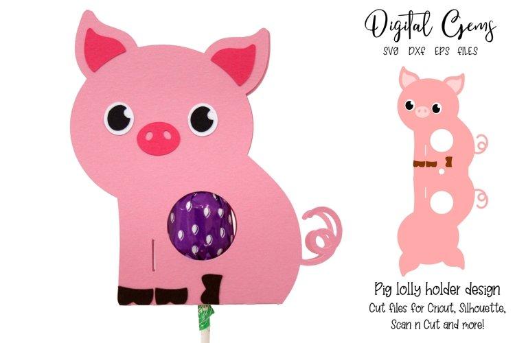 Pig Lollipop / Sucker holder design SVG / DXF / EPS