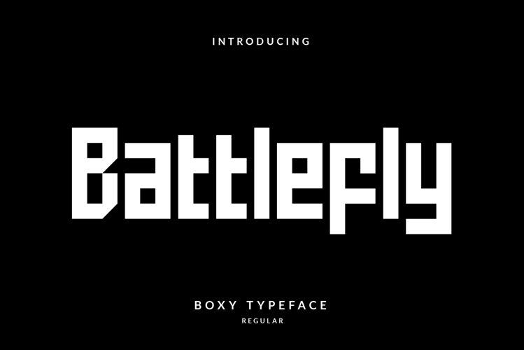 Battlefly Geometric Boxy Typeface example image 1