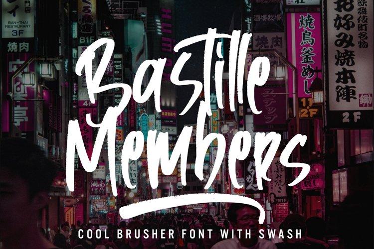 Bastille Members - Cool Brusher Font example image 1