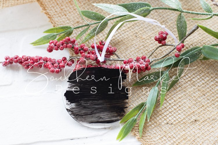 Clear Ornament Christmas Mock Up Styled Photography