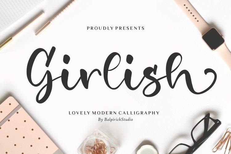 Girlish Lovely Modern Calligraphy Font