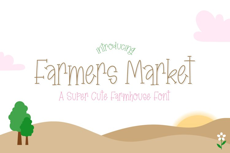 Farmers Market Font example image 1
