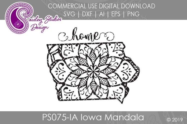 Mandala Iowa Home SVG DXF Ai EPS PNG example image 1