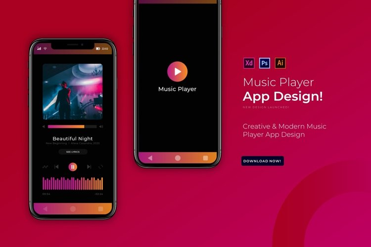 Music Player   App Template example image 1
