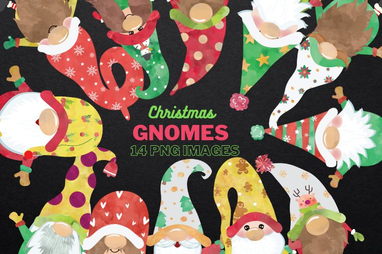 Christmas Clipart, Christmas Gnomes, Gnome Clipart example image 1