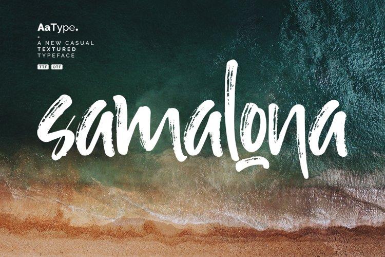 Samalona Casual Textured Font example image 1