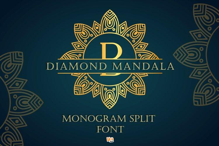 Diamond Mandala Monogram Split Font Duo example image 1