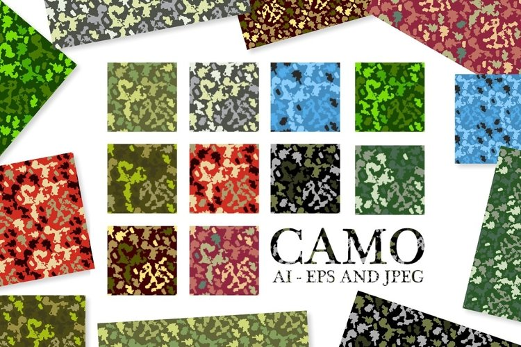 10 Army Camouflage Patterns Vectors example image 1