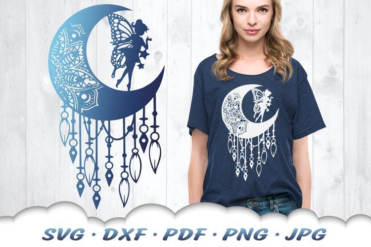 Fairy Mandala Dreamcatcher SVG DXF Cut Files