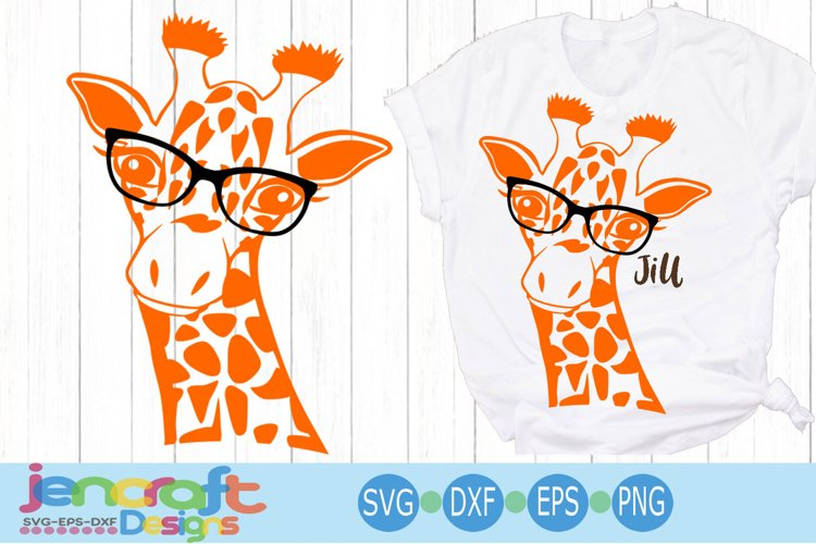 Giraffe in glasses svg, Cute Funny Kids Mother svg clip art