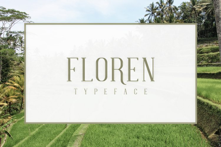 FLOREN TYPEFACE example image 1