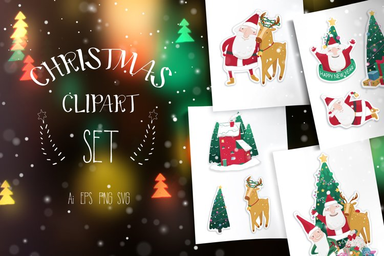 Christmas vector clipart set