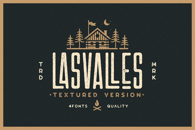 Las Valles Ultra Textured Condensed Typeface 4 Fonts example image 1