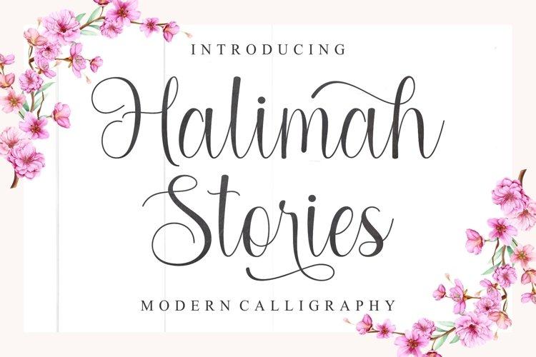 Halimah Stories | Modern Calligraphy example image 1