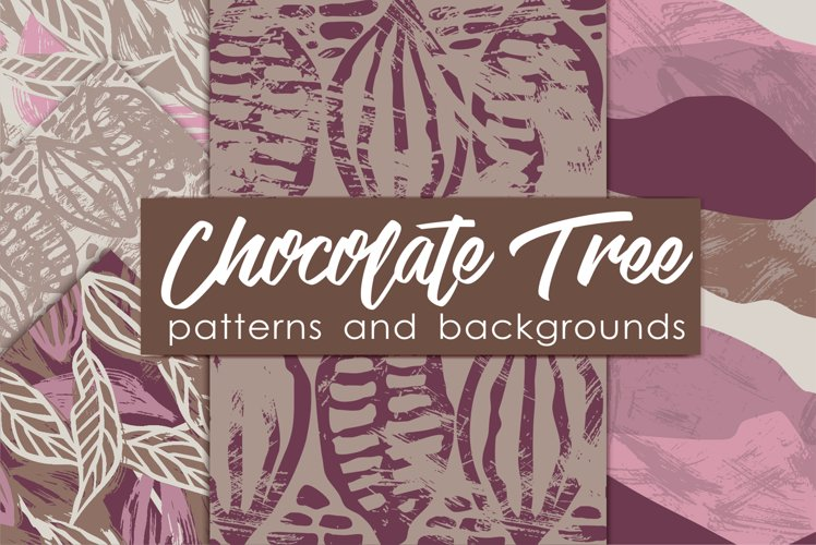 Chocolate Tree Patterns and Backgrounds