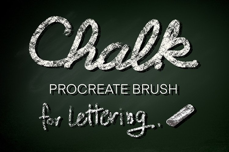Procreate Chalk Brush for Lettering, Digital Brush