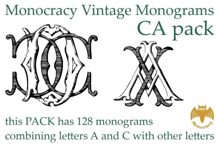 Monocracy Vintage Monograms Pack CA example image 1