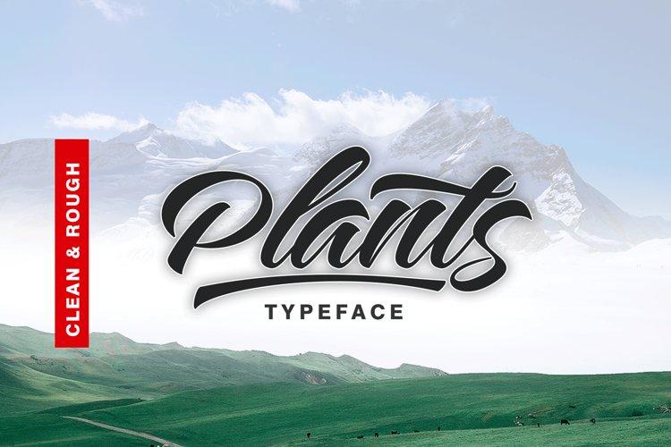Plants FontDuo example image 1