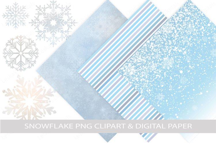 Snowflake Clipart   Winter Digital Paper