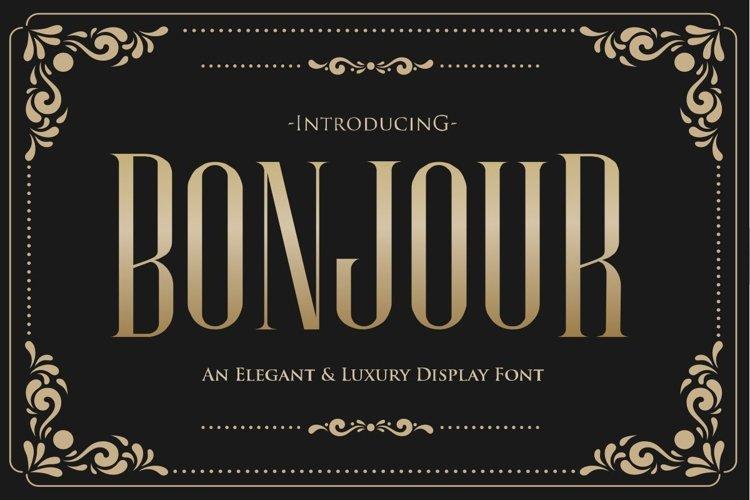Bonjour - An Elegant & Luxury Typeface example image 1