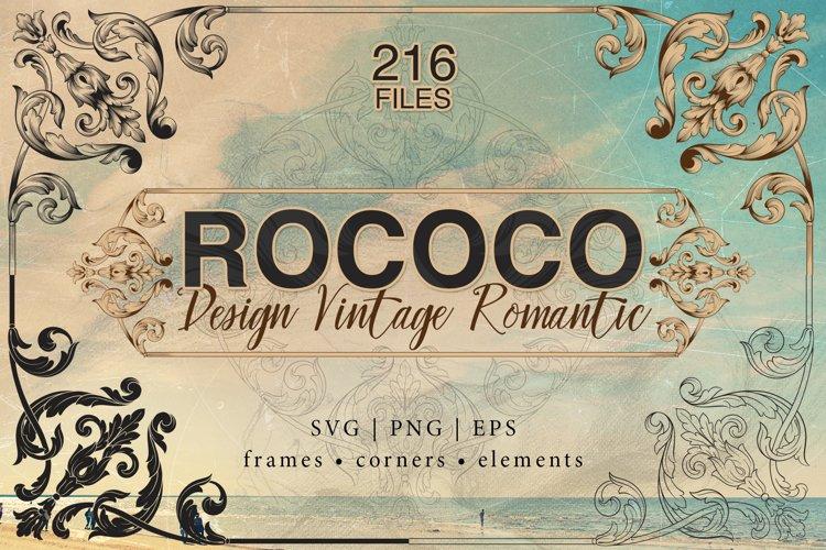 Rococo Romance Ornament page decor for foil quill