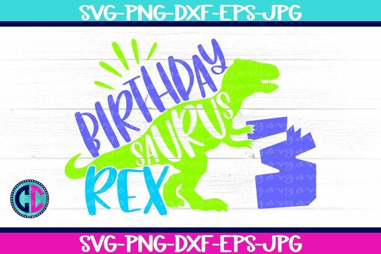 Birthday svg, Boy Three Rex Svg example image 1