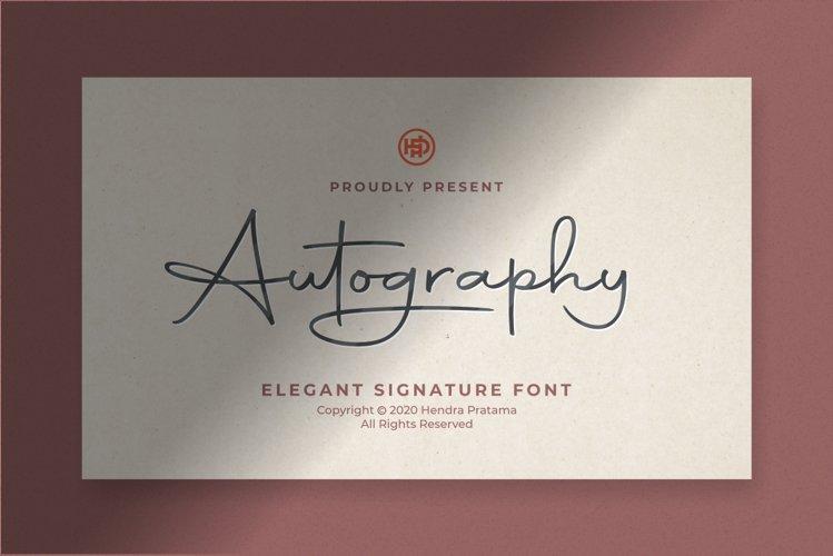 Autography - Elegant Signature Font