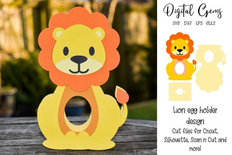 Lion Easter egg holder design SVG / DXF / EPS example image 1