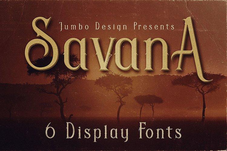 Savana - Display Font example image 1