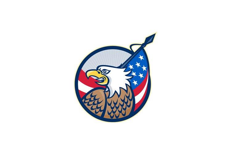American Eagle Stars and Stripes Flag Retro example image 1