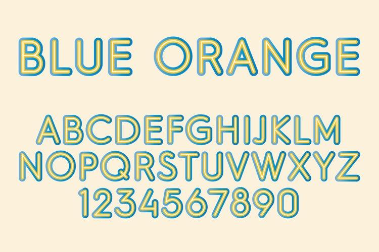Blue Orange Color SVG Font example image 1