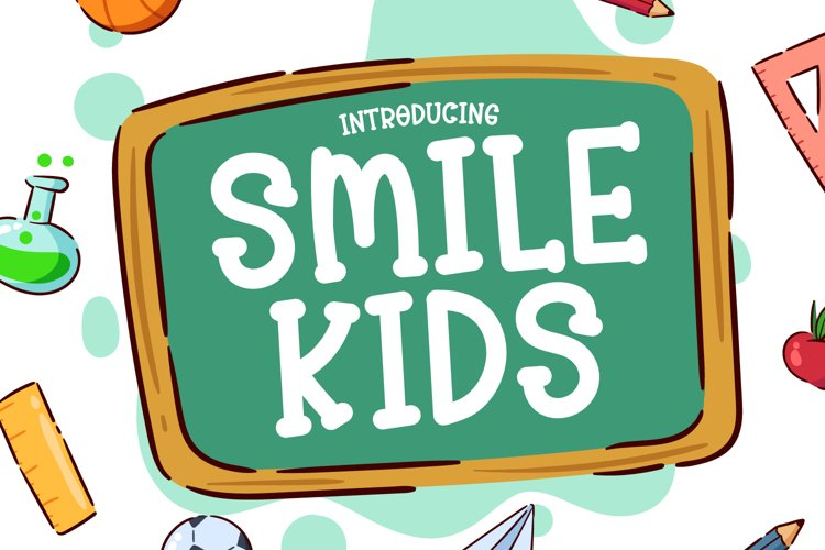 Smile Kids - Cute Display Font example image 1