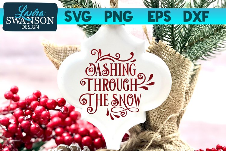 Dashing Through the Snow SVG, PNG, EPS, DXF