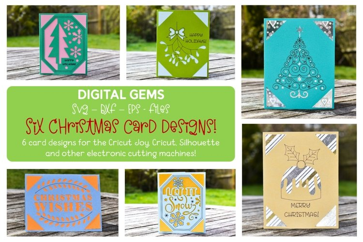 Christmas Card Bundle! Works with the Cricut Joy and more! example image 1
