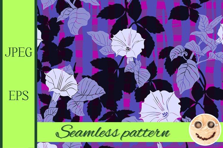 Flowers of dope on the purple black pattern.